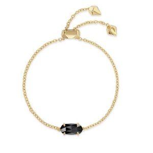 Kendra Scott Everlyne Chain Bracelet Black & Gold